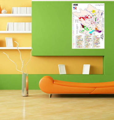 Living room wine posters